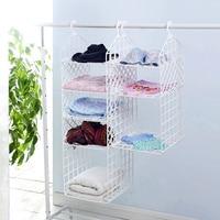DIY folding cabinet shelf plastic shelves quarters wardrobe hanging basket storage shelves