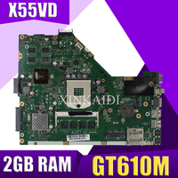 XinKaidi X55VD Laptop motherboard for ASUS X55VD X55V X55 Test original motherboard REV2.1/REV2.2 GT610M 2GB RAM