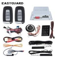 EASYGUARD компания PKE сигнализация для автомобиля центральный замок с пульт дистанционного управления starter Нажмите Пуск системы запуска двигат