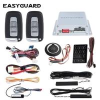 EASYGUARD PKE car alarm system for car central lock with remote control remote starter push start system engine start stop DC12V