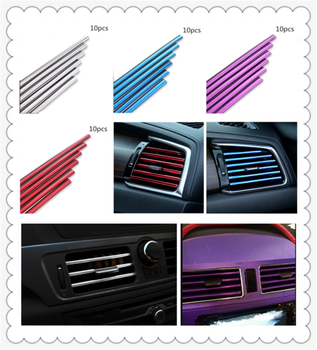 car parts air conditioning outlet decorative strip clip modified personality for BMW E46 E39 E38 E90 E60 E36 F30 F30 M M3 image