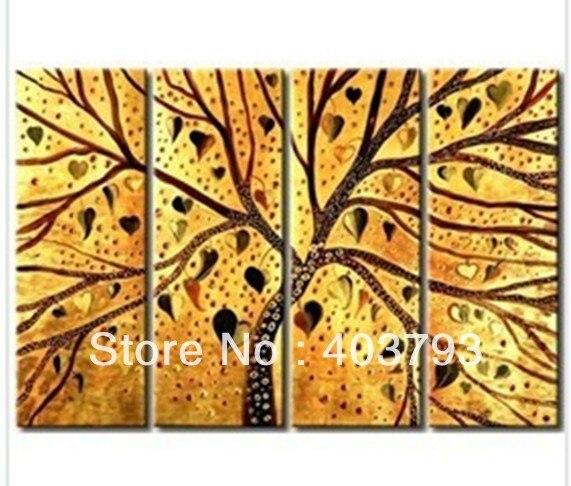 4 p enorme abstrata moderna da pintura a óleo excelente pinturas a óleo sobre tela abstrata árvore frete grátis