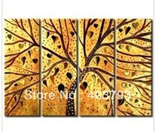 4p Modern Abstract Huge Art Oil Painting Excellent oil paintings on Canvas abstract tree Free shipping