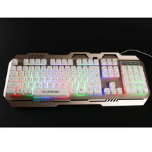 Colorful LED Backlight Multimedia 104 Kunci Komputer Gaming Keyboard Teclado Kabel Usb Illuminated Gaming Keyboard Tahan Air # A(China)