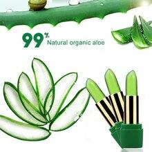 купить!  Уход за губами 99% Алоэ Вера Изменение цвета с температурой Желе Помада Растение Увлажняющий бальзам �