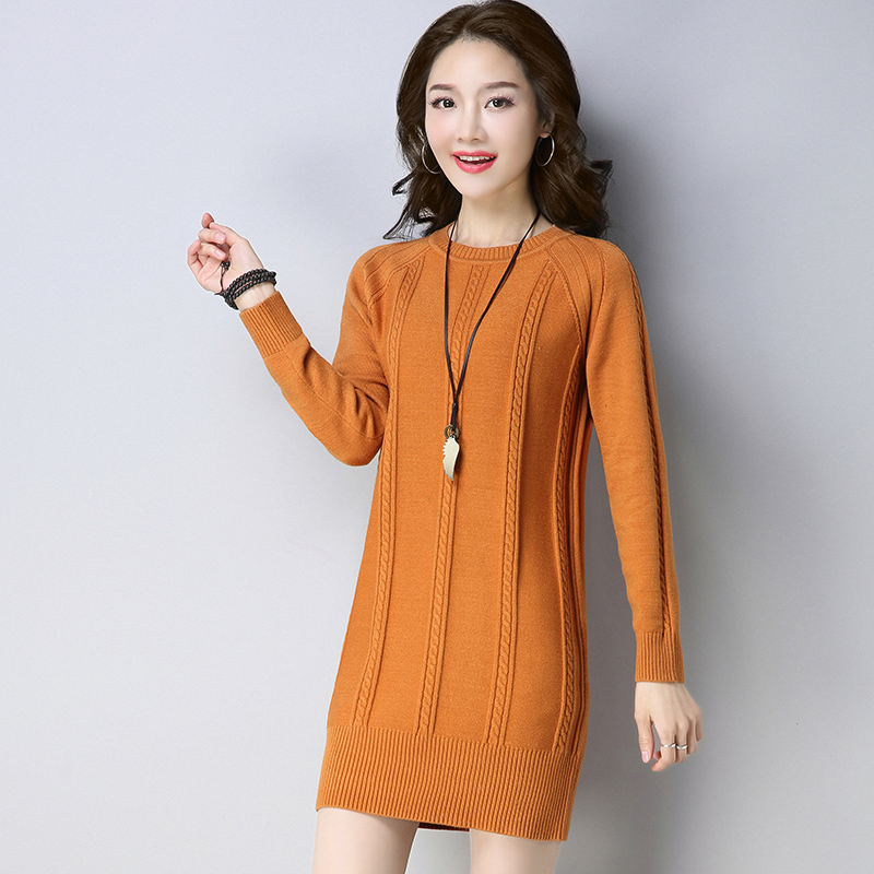 Fashion spring Autumn Maternity long sweater women large size round neck sweaters N86 beige round neck love patchwork sweater