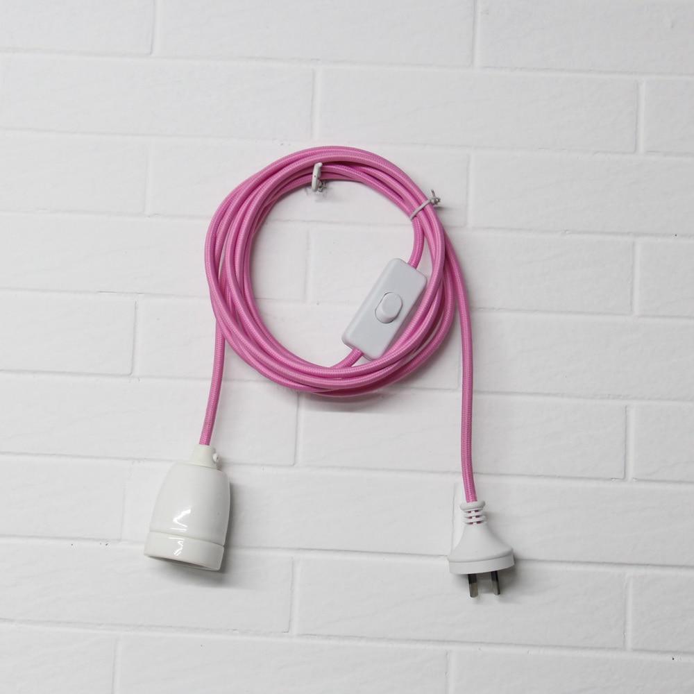 Anhänger Licht AU Stecker kabel mit porzellan lampe halter und ...