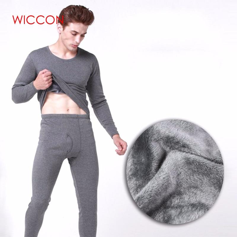 Men's Thermal Underwear Sets Winter Warm Men's Underwear Men's Thick Thermal Underwear Long Johns Black Gray Navy Dark Gray 4XL