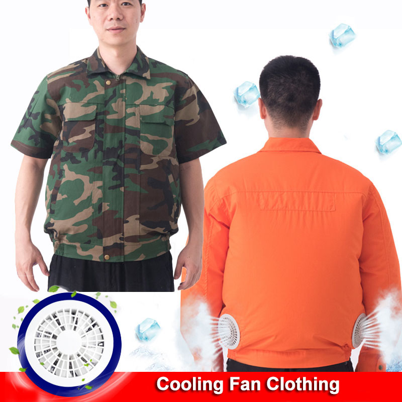Summer Cooling Air Conditioning Clothes Charging with Fan Clothing Outdoor Welder Working Long / Short Sleeve Fan Jackets