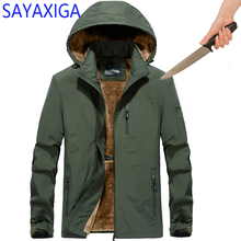 лучшая цена Winter Self Defense Anti Cut Clothing Anti-stab Blouse Anti-Knife Stealth Cut Resistant Men Jacket Security Soft Velvet Overcoat