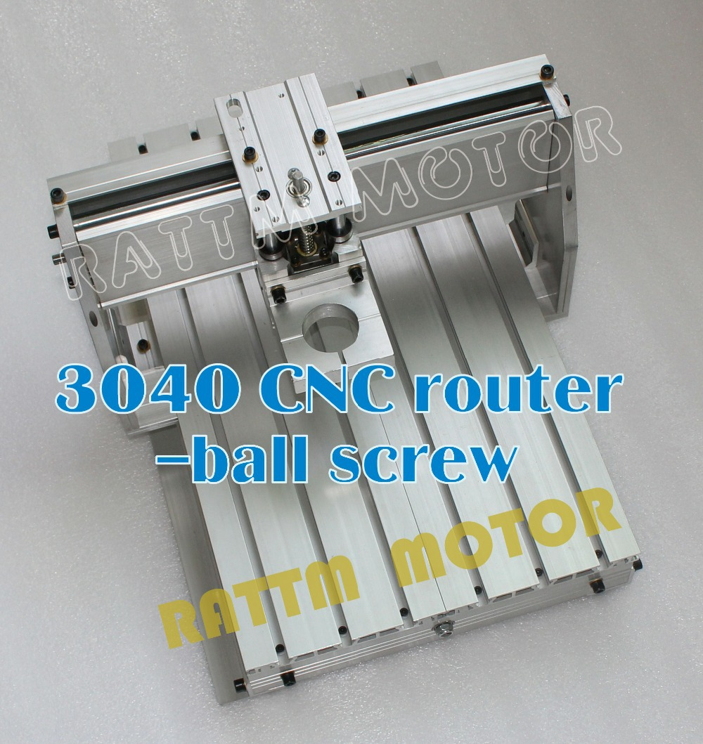 Wood Lathe 3040 Cnc Router Milling Machine with 43mm clamp bracket Mechanical Kit Aluminium Alloy Frame Ball Screw for Diy User