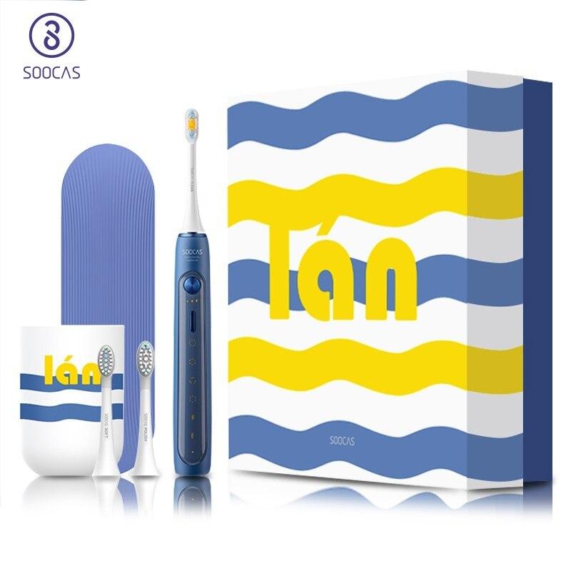 SOOCAS X5 elektryczna szczoteczka do zębów Xiaomi Mijia szczoteczka do zębów szczoteczka do zębów Sonic szczotka USB akumulator NFC inteligentne sterowanie automatyczna szczoteczka do zębów w Elektryczne szczoteczki do zębów od AGD na  Grupa 1