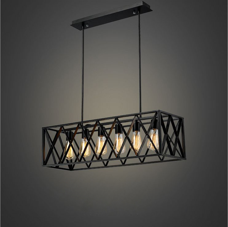 industrial design lighting. Youlaike Rectangle Vintage Pendant Light Dining Room Black Industrial Hanging Lighting Fixture With E27 Source-in Lights From Design