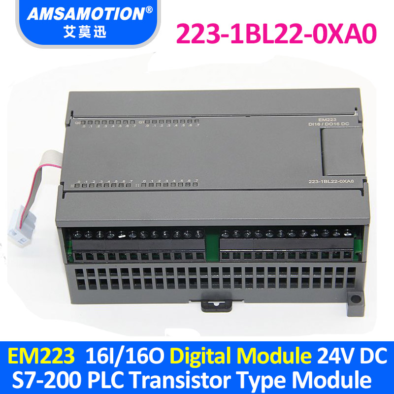 EM223 AMX 223-1BL22-0XA0 16I/16O Compatible S7-200 PLC Digital Module 6ES7 223-1BL22-0XA0 Transistor Type цены