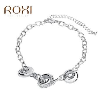 8826 циркон круглый элемент моды Стразы Шарм цепи Цепочки и ожерелья дамы браслет украшения для Для женщин вечерние Brithday повседневной жизни