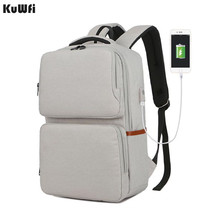 Unisex New Fashion Business Travel USB Backpack Canvas Laptop Computer Bag Big Capacity Backpack Male Female Luggage