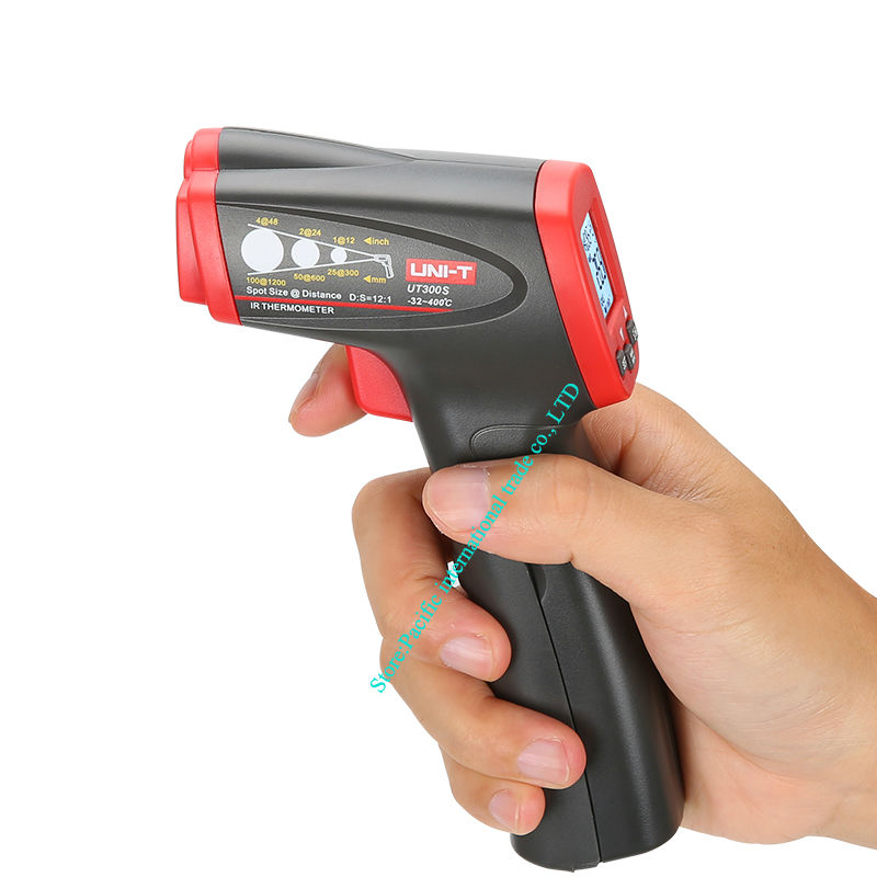 UNI-T UT300S Non-Contact Laser Gun Infrared Digital IR Thermometer industrial LCD with Back Light -32- 400 degree centigrade tasi 8606 infrared thermometer 32 380 degrees infrared thermometer non contact thermometer industrial and household