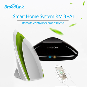 Broadlink RM3 RM PRO inteligentny pilot zdalnego sterowania IR + RF + A1 detektor jakości powietrza czujnik, inteligentny System automatyki domowej dla IOS Android