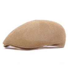 Şapka Erkek Yaz Net Şapka Çift Ördek Çim hasır şapka Ileri Nefes Gölge Bere  Erkek ve 2038d84c14