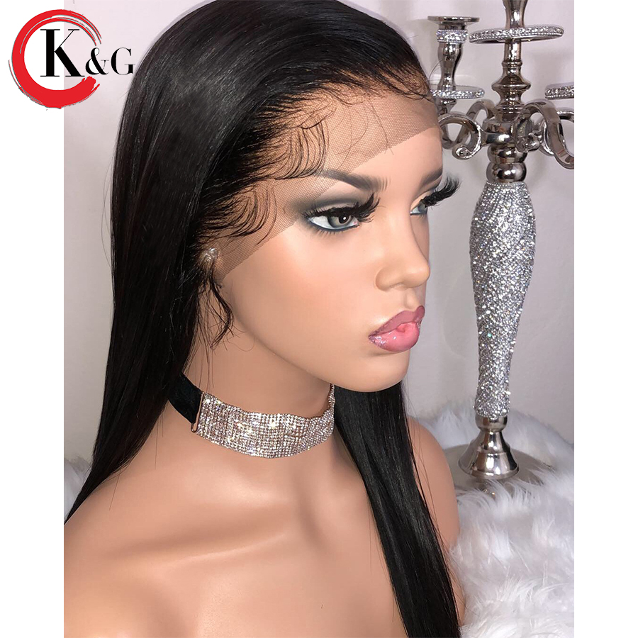 Kun Gang 13 4 Inches Lace Front Human Hair Wigs With Baby Hair Pre Plucked Brazilian