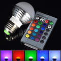 4pcs/lot E27 RGB LED 16 Color Changing 3W Spot Light Party Club Lamp Bulb + 24Key Remote Controller