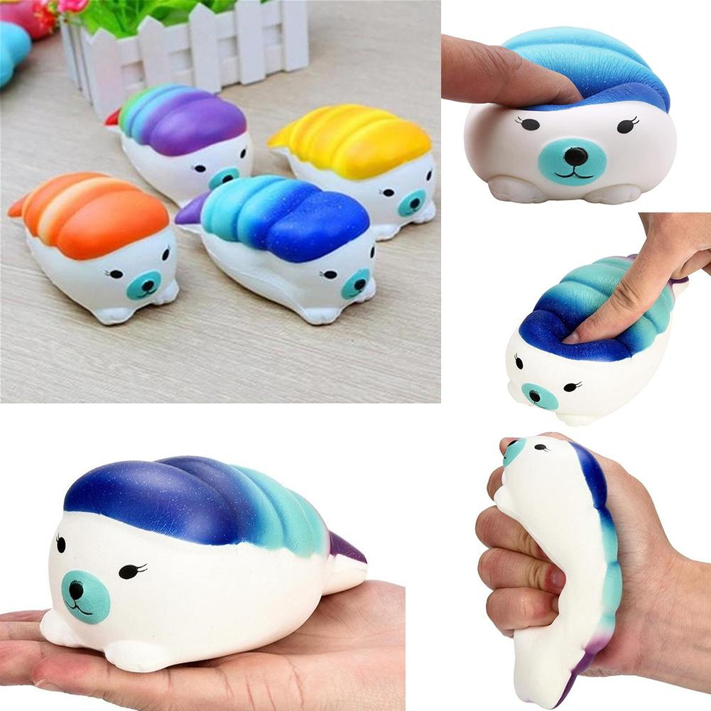 Cartoon Seal Sushi Squishy Slow Rising Kids Adults Squeeze Toys Stress Reliever