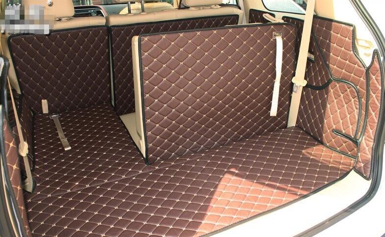 Good! Full set trunk mats for Toyota Highlander 7seats 2017-2009 durable cargo liner carpets for Highlander 2016,Free shipping