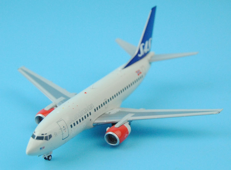 ФОТО new jc wings 1: 200 scandinavian airlines b737-500 ln-brx xx2018 alloy aircraft model favorites model