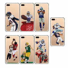 American Sport football Odell Cornelious Beckham Jr rugby soft silicone phone cases cover for iPhone 6 6S 7 8 plus X 5 5S SE
