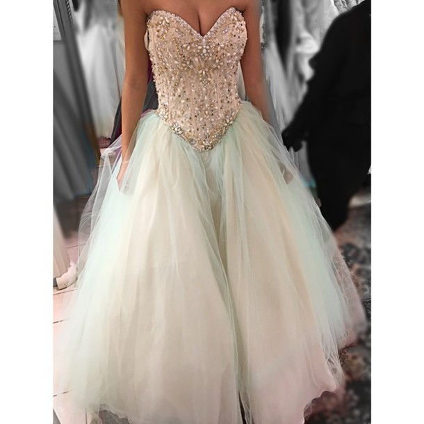 Stunning Full Beads Diamond Bodice Wedding Dress Custom ...