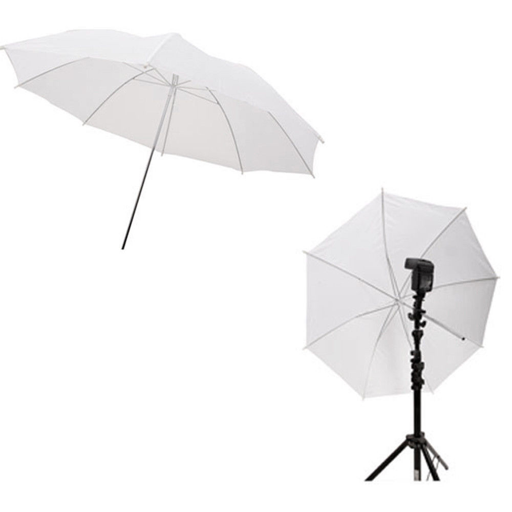 New 2pcs 33in 83cm Flash Translucent White Soft Umbrella Photo Studio Accessories