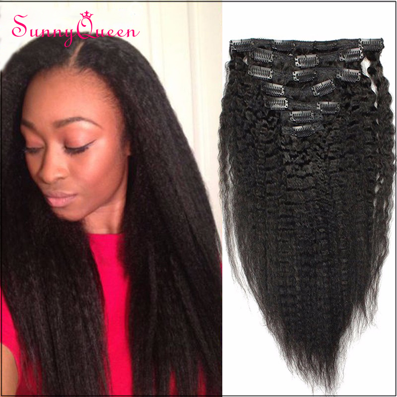 Cheap African American Clip In Hair Extensions Remy Indian Hair