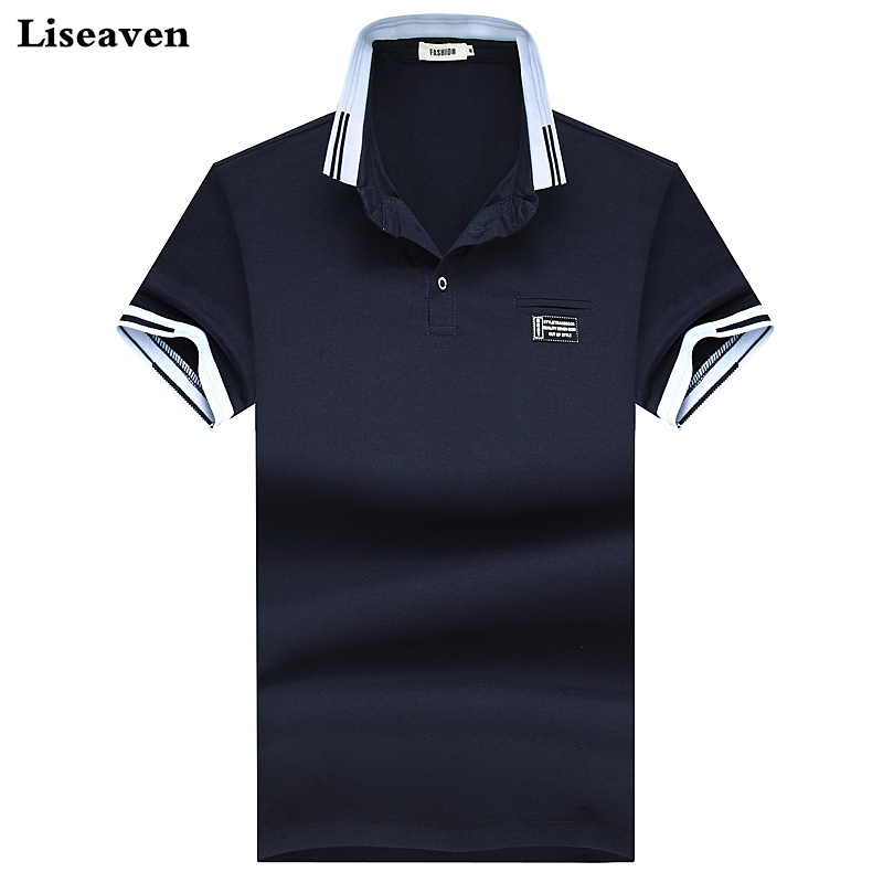 Liseaven Men Polo Shirts 2018 Summer Polos Solid Color Camisas Cotton Polo Shirts Short Sleeve Tops