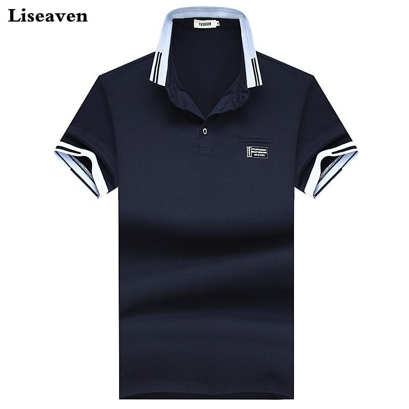Liseaven Men   Polo   Shirts 2018 Summer   Polos   Solid Color Camisas Cotton   Polo   Shirts Short Sleeve Tops