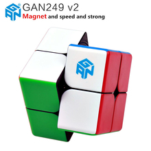 Gan249 V2 M 2x2x2 Magnetic Magic Cubes Stickerless GAN 249 Pocket Cube Professional Magnets Puzzle Speed Cube Toys Gans все цены