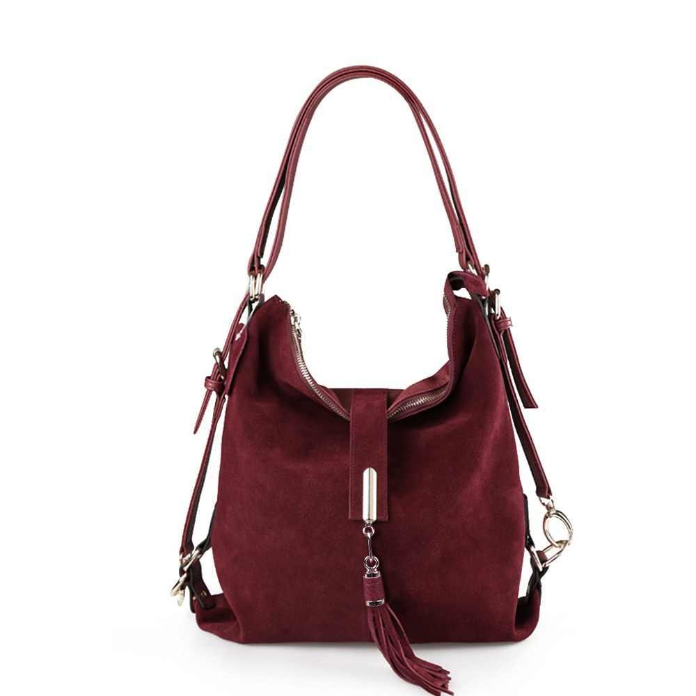 9aa383bc1eb9 Nico Louise женская натуральная спилок замша кожа сумка на плечо Женская  Досуг нубук Повседневная сумка мессенджер