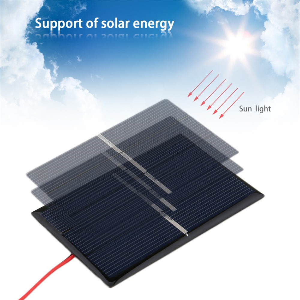 0.65W 1.5V 300mA Polycrystalline Silicon Solar Panel Mini Solar Power Cell Charger Panel DIY Solar Cells With Wire Cable