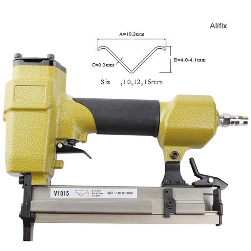 High Quality V1015B Pneumatic Stapler Air Nail Gun nailer V type nail 10 3MM Crown Pneumatic