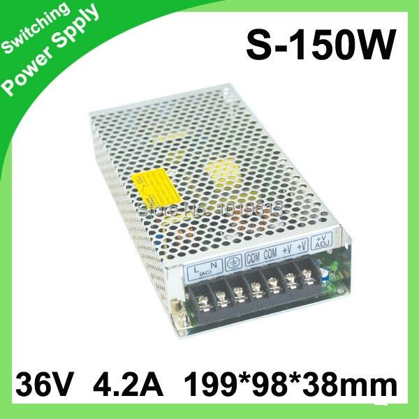 36В 4.2A 150 Вт переключатель питания Драйвер для светодиодной ленты светового дисплея 200В ~ 240В/100В ~ 120В