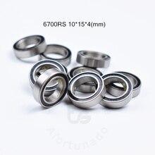 6700RS 10*15*4(мм) 10 шт. подшипник ABEC-5 61700 6700 63700 хромированная сталь подшипник резиновое уплотнение подшипник тонкие стенки подшипник 61700