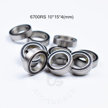 6700RS 10*15*4(mm) 10pieces bearing ABEC-5 61700 6700 63700 chrome steel bearing rubber seal bearing Thin wall bearing 61700(China)