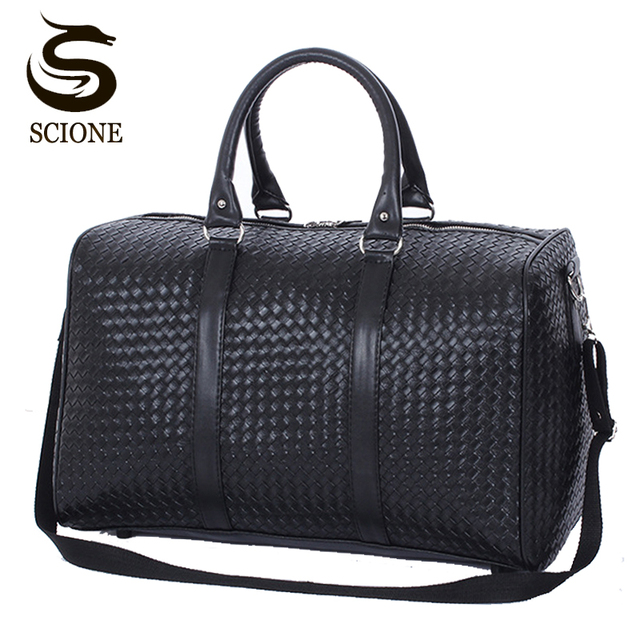 e62d6f9c6c9 Scione Men Travel Bags Large Capacity Luggage Travel Duffle Bags PU Leather  Handbags Waterproof Trip Travel Duffel Bag for Women