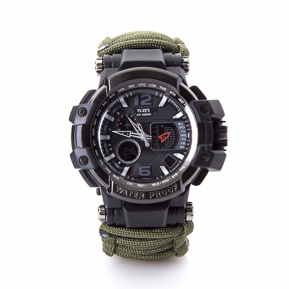 新的户外生存手表手链多功能防水50M手表男士女士露营远足军事战术露营(4)