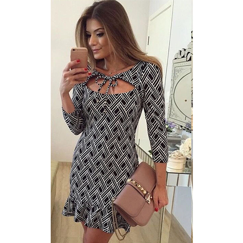 New Style American Apparel Dresses Women Ladies vintage office dress Summer hot 2016 formal Mini women clothing robe TONSEE