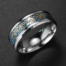 Модное украшение новый стиль кольцо с золотым Драконом и горячее