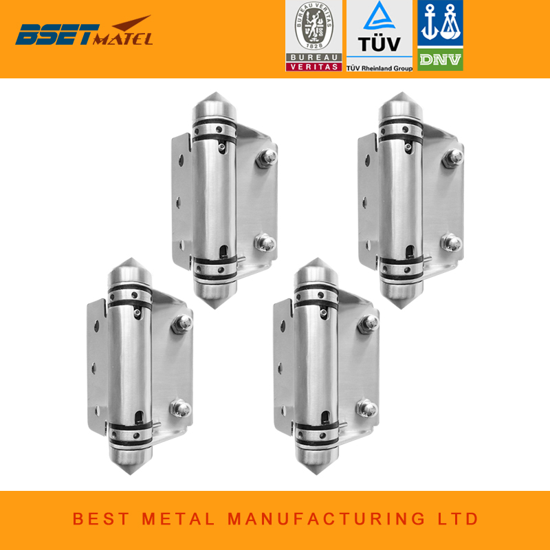 4 Pieces Satin polish 316 Stainless steel Self Closing Hinges of glass to FLAT for glass