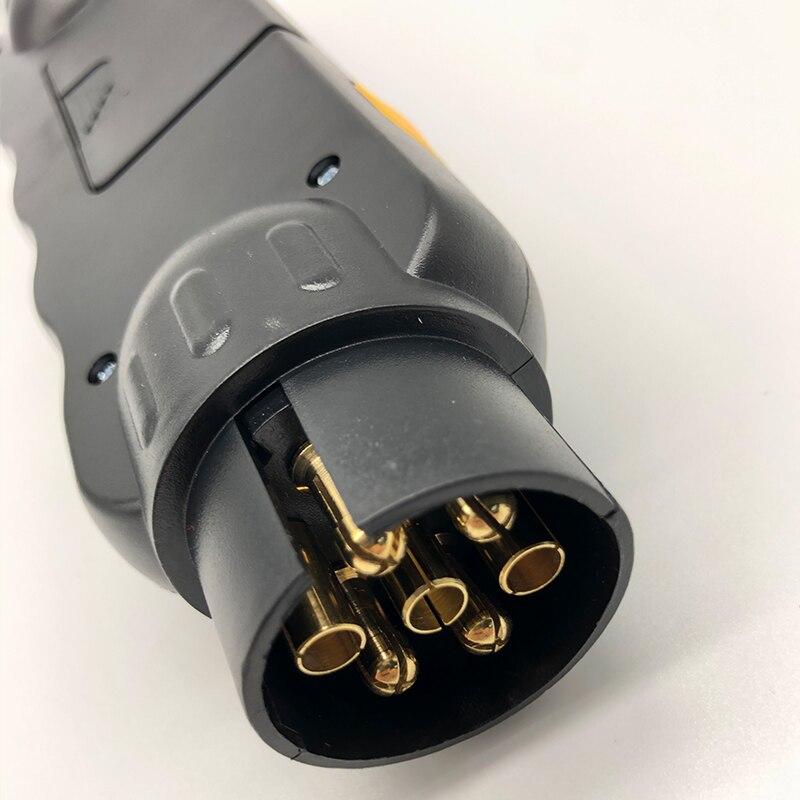 Heavy Trailer Socket Tester Trailer 7 Way Rv Light Plug Socket Adapter Fit For Rv Trailer