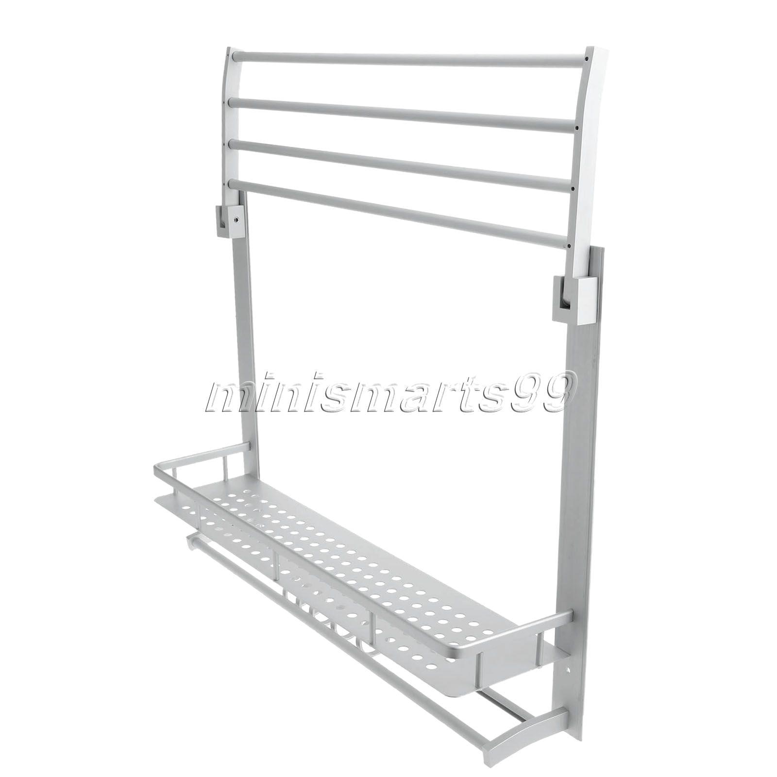Bathroom Accessories Shelves Aliexpresscom Buy 60cm Double Layers Aluminum Bathroom Rack