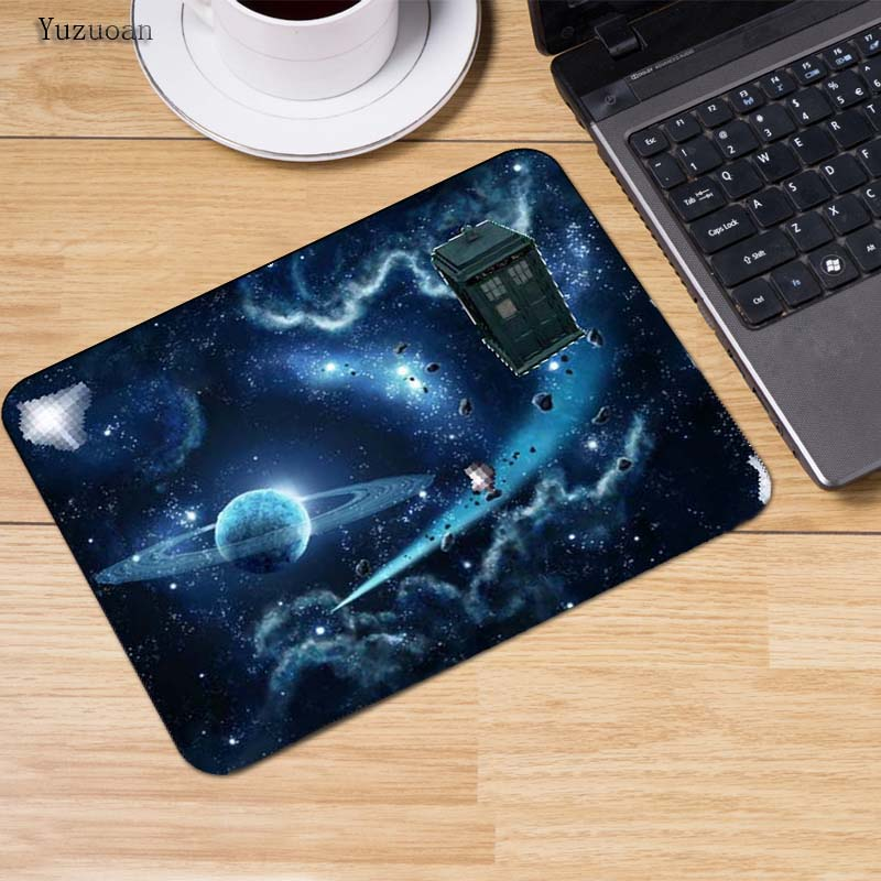 Yuzuoan Time Vortex Doctor who Anti-Slip Gaming keyboard Movie Mouse Pad 180x220x2mm and 250x290x2mm mat Cool Design mouse pad