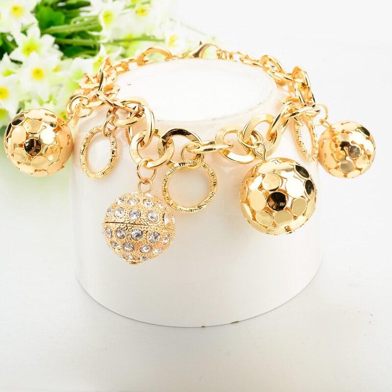LongWay Strand Bracelet Silver Color Gold Color Bracelets with Hollow Ball Crystal For Women Bracelet Accessories SBR160023103 5